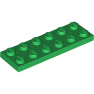 [New] Plate 2 x 6, Green. /Lego. Parts. 3795