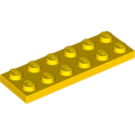 [New] Plate 2 x 6, Yellow. /Lego. Parts. 3795