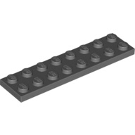 [New] Plate 2 x 8, Dark Bluish Gray. /Lego. Parts. 3034