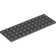 [New] Plate 4 x 12, Dark Bluish Gray. /Lego. Parts. 3029