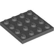 [New] Plate 4 x 4, Dark Bluish Gray. /Lego. Parts. 3031