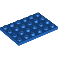 [New] Plate 4 x 6, Blue. /Lego. Parts. 3032
