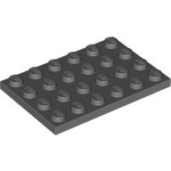 [New] Plate 4 x 6, Dark Bluish Gray. /Lego. Parts. 3032