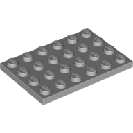 [New] Plate 4 x 6, Light Bluish Gray. /Lego. Parts. 3032