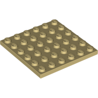 [New] Plate 6 x 6, Tan. /Lego. Parts. 3958