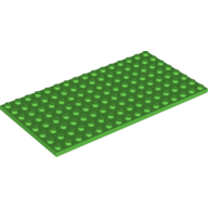 [New] Plate 8 x 16, Bright Green. /Lego. Parts. 92438