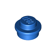 [New] Plate, Round 1 x 1 Straight Side, Blue. /Lego. Parts. 4073