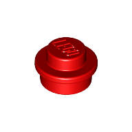 [New] Plate, Round 1 x 1 Straight Side, Red. /Lego. Parts. 4073
