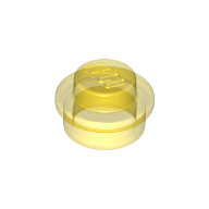 [New] Plate, Round 1 x 1 Straight Side, Trans-Yellow. /Lego. Parts. 4073