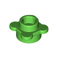 [New] Plate, Round 1 x 1 with Flower Edge (4 Knobs), Bright Green. /Lego. Parts. 33291