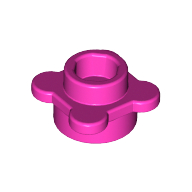 [New] Plate, Round 1 x 1 with Flower Edge (4 Knobs), Dark Pink. /Lego. Parts. 33291