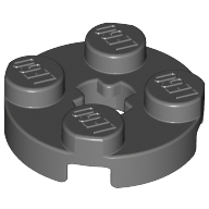 [New] Plate, Round 2 x 2 with Axle Hole, Dark Bluish Gray. /Lego. Parts. 4032