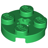 [New] Plate, Round 2 x 2 with Axle Hole, Green. /Lego. Parts. 4032