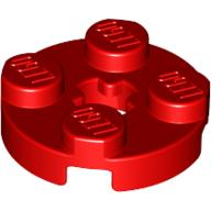 [New] Plate, Round 2 x 2 with Axle Hole, Red. /Lego. Parts. 4032