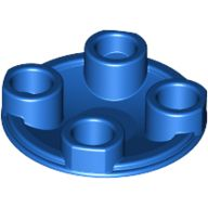 [New] Plate, Round 2 x 2 with Rounded Bottom (Boat Stud), Blue . /Lego. Parts. 2654