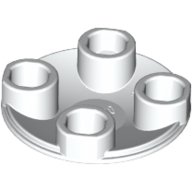 [New] Plate, Round 2 x 2 with Rounded Bottom (Boat Stud), White. /Lego. Parts. 2654