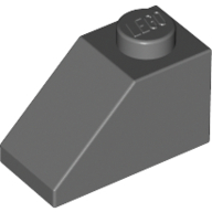 [New] Slope 45 2 x 1, Dark Bluish Gray. /Lego. Parts. 3040