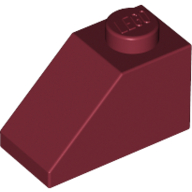 [New] Slope 45 2 x 1, Dark Red. /Lego. Parts. 3040
