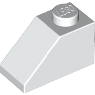 [New] Slope 45 2 x 1, White. /Lego. Parts. 3040