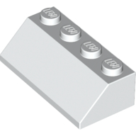 [New] Slope 45 2 x 4, White. /Lego. Parts. 3037