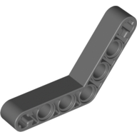 [New] Technic, Liftarm 1 x 7 Bent (4 - 4) Thick, Dark Bluish Gray. /Lego. Parts. 32348
