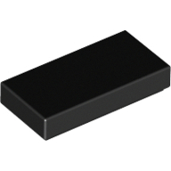 [New] Tile 1 x 2 with Groove, Black. /Lego. Parts. 3069b