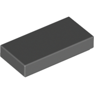 [New] Tile 1 x 2 with Groove, Dark Bluish Gray. /Lego. Parts. 3069b