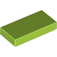 [New] Tile 1 x 2 with Groove, Lime. /Lego. Parts. 3069b