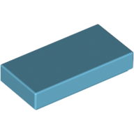 [New] Tile 1 x 2 with Groove, Medium Azure. /Lego. Parts. 3069b