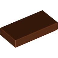 [New] Tile 1 x 2 with Groove, Reddish Brown. /Lego. Parts. 3069b