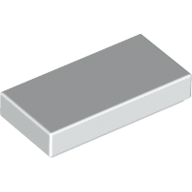 [New] Tile 1 x 2 with Groove, White. /Lego. Parts. 3069b