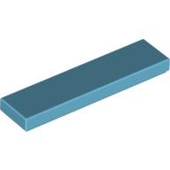 [New] Tile 1 x 4, Medium Azure. /Lego. Parts. 2431