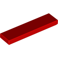 [New] Tile 1 x 4, Red. /Lego. Parts. 2431