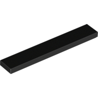 [New] Tile 1 x 6, Black. /Lego. Parts. 6636