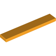 [New] Tile 1 x 6, Bright Light Orange. /Lego. Parts. 6636