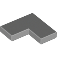 [New] Tile 2 x 2 Corner, Light Bluish Gray. /Lego. Parts. 14719 / 6065824