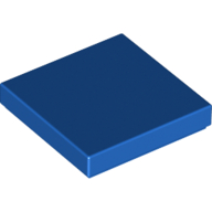 [New] Tile 2 x 2 with Groove, Blue. /Lego. Parts. 3068b
