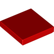[New] Tile 2 x 2 with Groove, Red. /Lego. Parts. 3068b