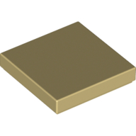 [New] Tile 2 x 2 with Groove, Tan. /Lego. Parts. 3068b / 4185177 / 4251986