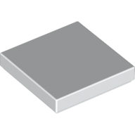 [New] Tile 2 x 2 with Groove, White. /Lego. Parts. 3068b
