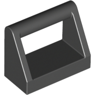 [New] Tile, Modified 1 x 2 with Handle, Black. /Lego. Parts. 2432