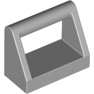 [New] Tile, Modified 1 x 2 with Handle, Light Bluish Gray. /Lego. Parts. 2432