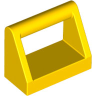 [New] Tile, Modified 1 x 2 with Handle, Yellow. /Lego. Parts. 2432