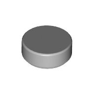 [New] Tile, Round 1 x 1, Light Bluish Gray. /Lego. Parts. 98138