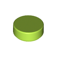 [New] Tile, Round 1 x 1, Lime. /Lego. Parts. 98138