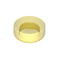 [New] Tile, Round 1 x 1, Trans-Yellow. /Lego. Parts. 98138