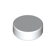 [New] Tile, Round 1 x 1, White. /Lego. Parts. 98138