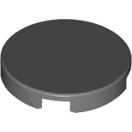 [New] Tile, Round 2 x 2 with Bottom Stud Holder, Dark Bluish Gray. /Lego. Parts. 14769