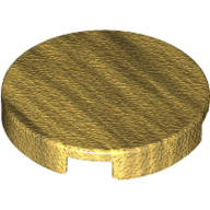 [New] Tile, Round 2 x 2 with Bottom Stud Holder, Pearl Gold. /Lego. Parts. 14769
