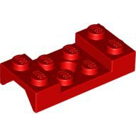[New] Vehicle, Mudguard 2 x 4 with Arch Studded with Hole, Red. /Lego. Parts. 60212